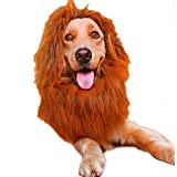 TYFANG Pet Dog Cat Costumes Lion Wigs Mane Hair Festival Party