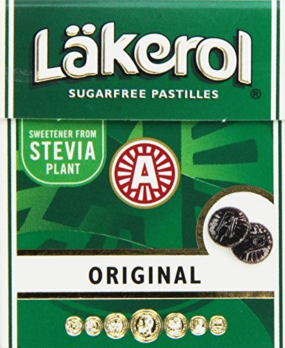 Lakerol Original Herb Menthol Sugar Free Pastilles, .8 Ounce (Pack of 24)