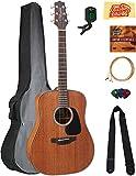 Takamine GD11M Mahogany Dreadnought Acoustic Guitar - Natural Satin Bundle with Gig Bag, Cable, Tuner, Strap, Strings, Picks, Austin Bazaar Instructional DVD, and Polishing Cloth