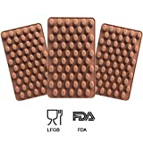 coffee bean ice tray - Inn Diary Mini Coffee Beans Chocolate Mold,Silicone Bakeware Mould - Pastry Mold (7.32