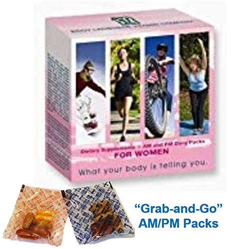 Peak365 Women s Daily Vitamin System Body Language Vitamins Best Multivitamin System for Women Includes Full Month Supply of Five Products Featuring Grab-and-Go AM PM Packs