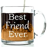 Best Amazon Gifts For Adults - Best Friend Ever Glass Coffee Mug - Unique Review