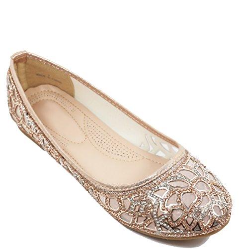 Walstar Women Basic Glitter Mesh Flat Slip on Shoes