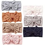 7pcs Baby Girl Headbands and Bows CLASSIC Knot Nylon Headwrap Super Soft Stretchy Nylon Hair bands for Newborn Toddler, Children (MZ118): more info