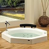 Extra Deep Bathtubs Neptune Nagano Octagon Extra Deep Japanese Whirlpool Bath Tub 40 x 40 x 36 3/4 NA40T White