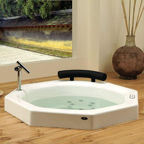 Neptune Nagano Octagon Extra Deep Japanese Whirlpool Bath Tub 40 X 40 X 36  3/4 NA40T White