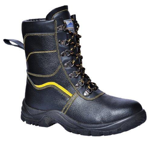 Steelite - Botte de Sécurité Protection Tige Haute Fourré Travail Extérieur FW05 - Noir, FR 44