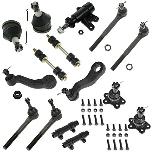 15 Piece Front Kit Ball Joint Sway Bar Tie Rid Idler Pitman Arm for Chevy C1500 Truck Suburban C1500 Tahoe C2500 Truck GMC C1500 Truck Suburban C1500 (Chevy Truck Suspension)
