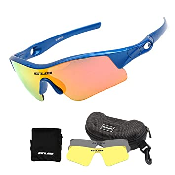 molto carino eafb0 b05fa Womdee, Occhiali da Ciclismo per Bambini, Occhiali da Sole Sportivi  polarizzati con 2 Lenti intercambiabili, Protezione UV al 100%, con  Montatura ...