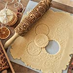 """Paisley Embossed Rolling Pin 16"""" Engraved Rolling Pin for Baking + Cute and Lightweight Wooden Rolling Pin for Kids and Adults to Make Cookie Dough – Attractive Professional Cookie Angel Food 12 START HAVING FUN IN THE KITCHEN WITH ALL YOUR FAMILY. Our textured rolling pin 16 Inch is very easy to use, so have some fun using this engraved rolling pin with your whole family. This embossed rolling pin can be used for fancy pastry decorations, cake decorations, shortbreads, basic biscuits, play dough, and even clay. This wood rolling pin can also be used as a kid's toy. EASY TO CLEAN:You only need to wash under running water and dry in the air,they will not take up too much space in the kitchen drawer ROLLING-PINS can be a really nice housewarming and pretty gift for your friends, kids and your kitchen."""