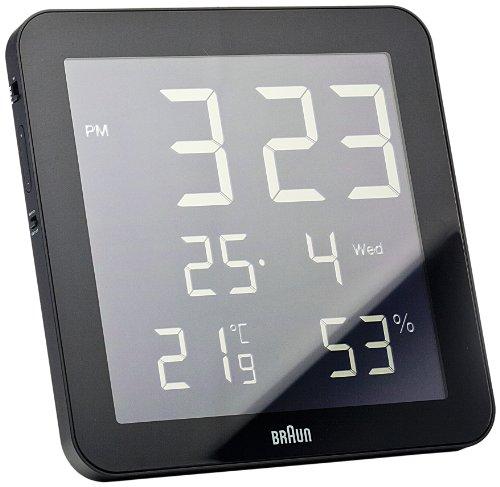 Braun BNC014BK Temperature/Humidity Quartz Wall Clock