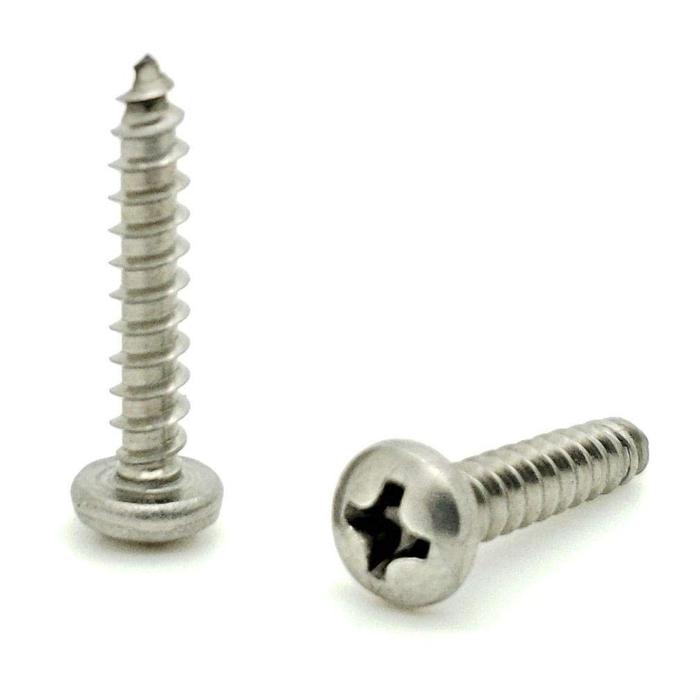 500 Qty #6 x 1//2 Flat Head Zinc Coated Phillips Head Wood Screws BCP31