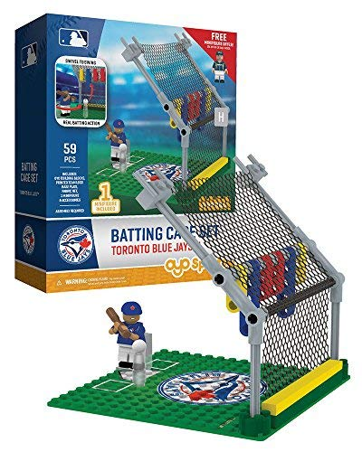 - Oyo Sportstoys MLB Toronto Blue Jays Batting Cage Set Minifigure, Small, White