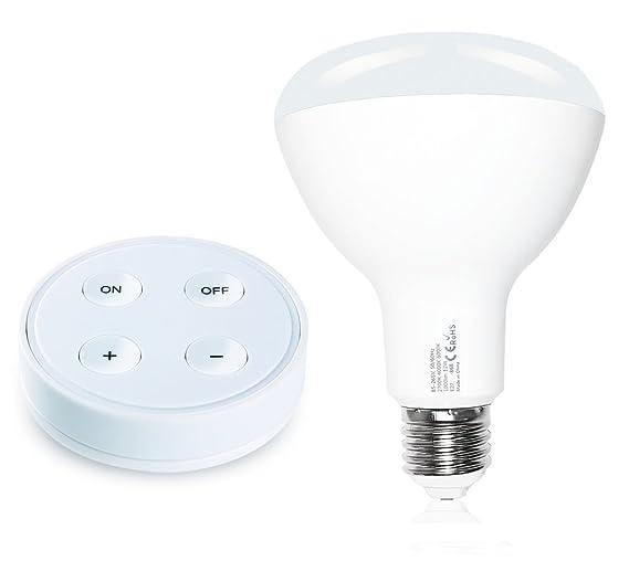 Bombilla LED E27 Wireless 10/12 W + mando a distancia RF con soporte magnético