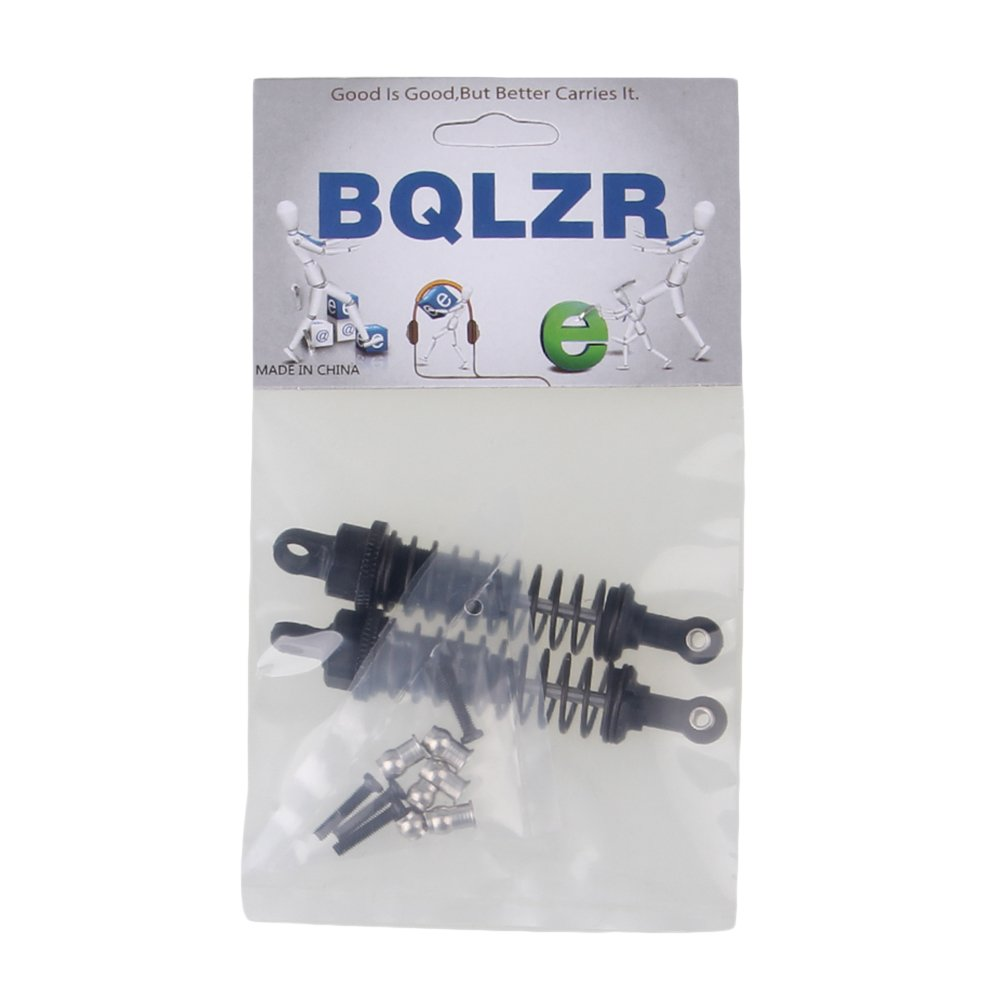 BQLZR Black 68mm Length 15mm Width Upgrade Parts Aluminum A285004 Shock Absorber for RC 1:16 Car Pack of 2
