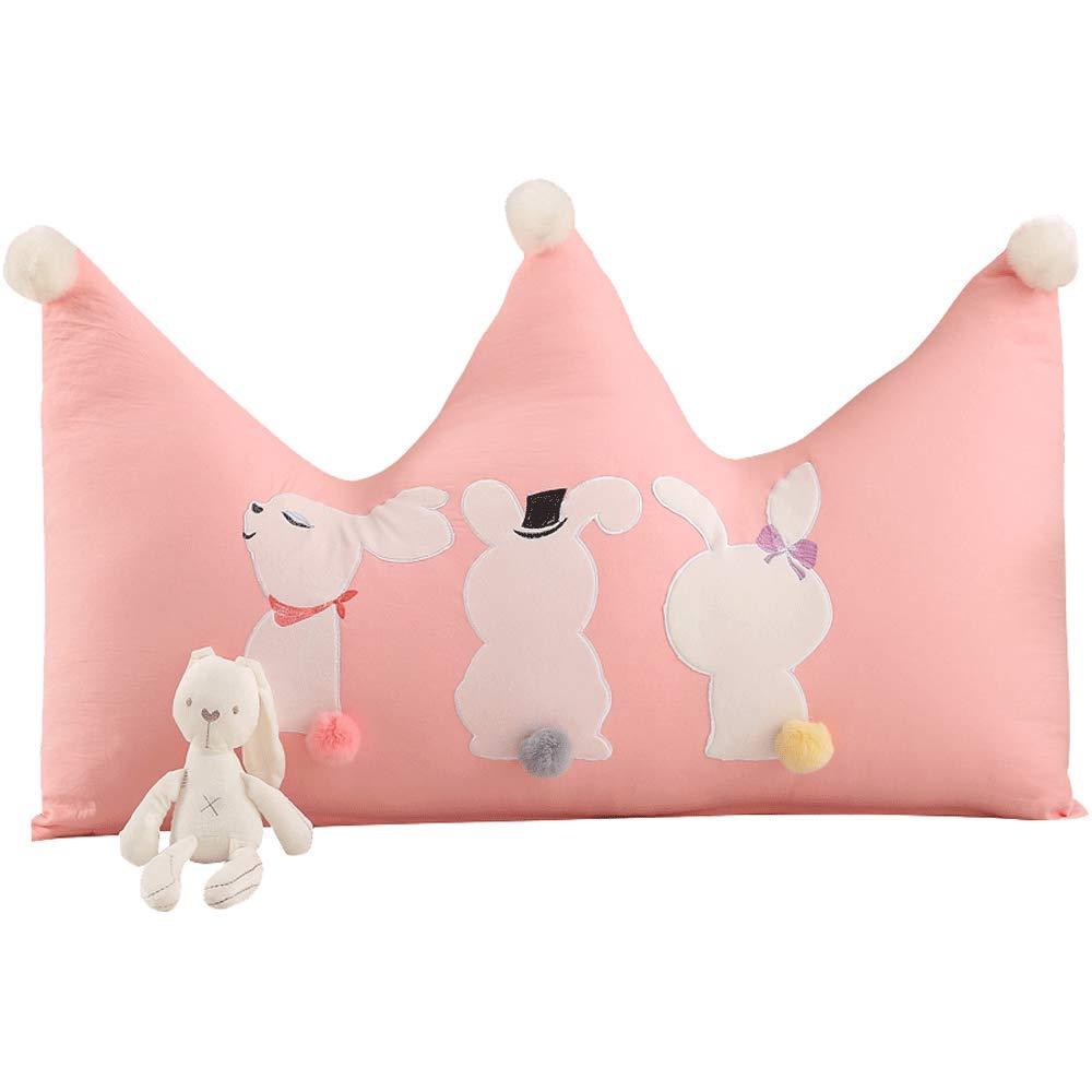 Unbekannt JXQ Bett Kopfkissen Big Back Crown Crown waschbar Kissen Princess Wind Kinderzimmer Tatami einfache Moderne weiche Tasche, 3 Größen & 3 Farben (Color : A, Size : 120x25x80cm)