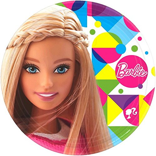 Barbie Party Plates (Round Plates | Barbie Sparkle Collection | Party)