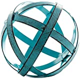 Blue Metal Band Decorative Sphere