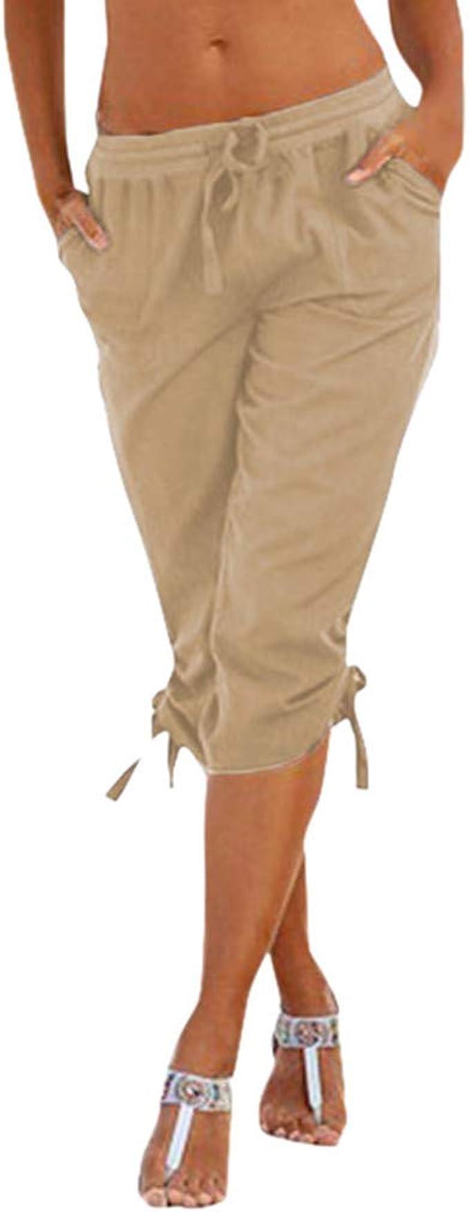 Pantalones Mujer Cortos Deporte Verano Yoga PAOLIAN Pantalones ...