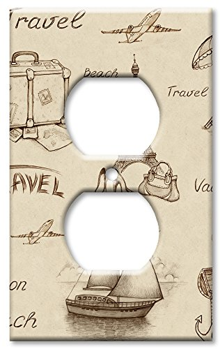 Art Plates Brand Electrical Outlet Wall / Switch Plate - Time To Travel by Art Plates