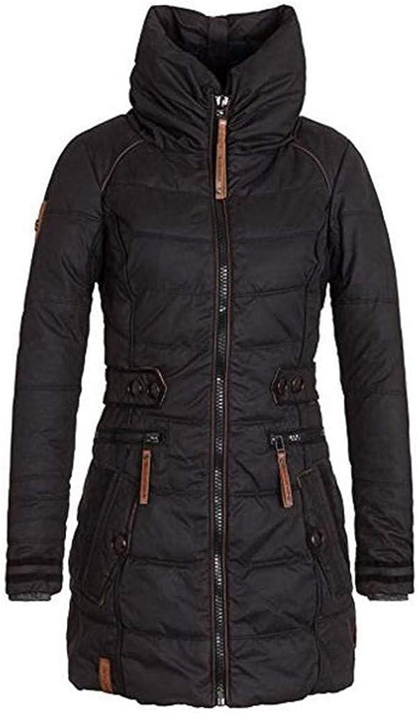 YiYLunneo Womens Down Coat Turtleneck Warm Winter Puffer Coats Thicken Fleece Lined Parkas Long Jacket Outwear