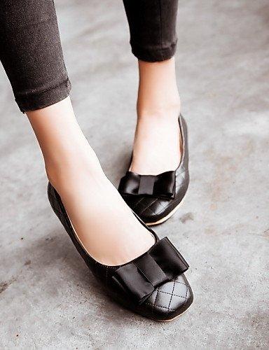 Beige 5 rosa cn38 blanco de negro PDX white talón us7 5 zapatos punta redonda Flats plano uk5 Casual de mujer eu38 HRPqRwxCO