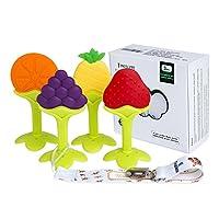 Baby Teething Toys - Tinabless Teething Keys Set Soft Silicone BPA-Free Baby ...
