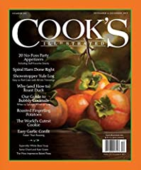 Cook's Illustrated is your go-to source for foolproof recipes that work. Unlike some glossy cooking magazines, our magazine is staffed with cooks and editors -- not food stylists. Our test kitchen is dedicated to testing and retesting recipes...