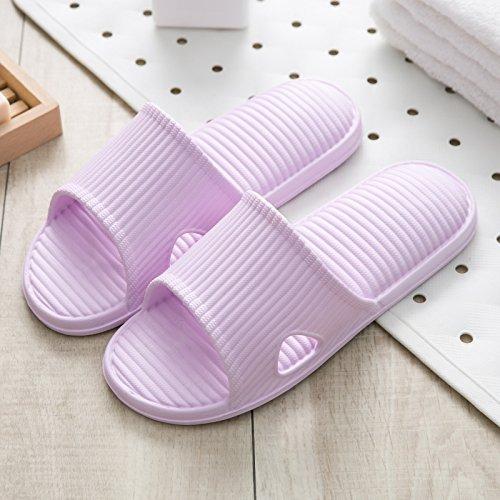pantoufles d'été toilettes RUGAI à cool pantoufles traîne dames la bain d'intérieur UE Violet pour Pantoufles cool couples pour maison d'été dames wEErXOqF