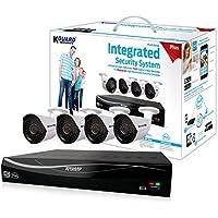 KGUARD Security EL831-4WA713A-1TB Easylink Plus 1MP Cameras DIY Home/Office Surveillance System (White)