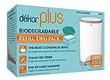 Diaper Dekor Plus Diaper Pail Liner Refills Biodegradable, 2 Count