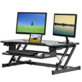 Adjustable Height Standing Desk, Stand Up Desk with Keyboard Tray