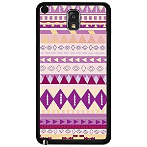 Colorful Purple and Pink Tribal Pattern Hard Snap on Phone Case (Note 3 III)