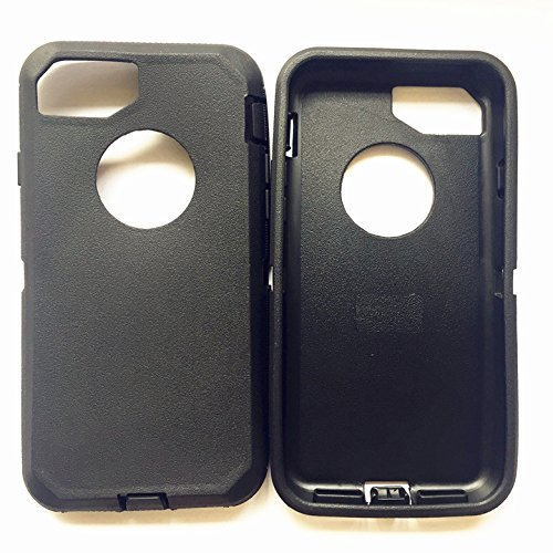 info for ccf61 94e3c Replacement TPE Silicone Skin for Otterbox Defender Series Case Cover for  Apple iPhone 8 Plus & iPhone 7 Plus 5.5 inch (Black)