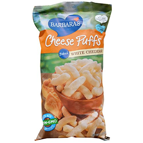Barbara's Bakery, Cheese Puffs Baked, White Cheddar, 5.5 oz(Pack of 4)