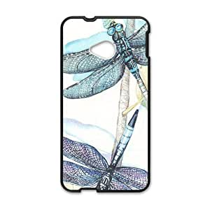 Canting_Good Dragonflies Custom Case Shell Skin for HTC One M7(Laser Technology)