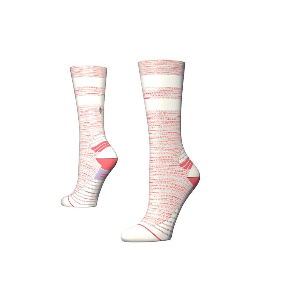 Stance Womens Run Uncommon Solid Run Socks (Coral, Medium)