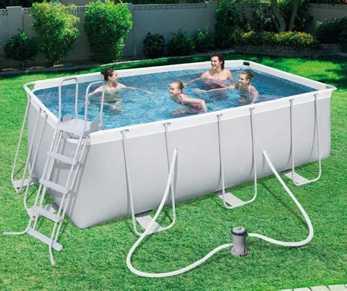 PEBSHOP Piscina Rectangular rígida L. 412 x 201 x 122 cm.: Amazon ...
