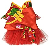 SMALLLEE_LUCKY_STORE Pet Chinese Traditional Wedding Dress - Small