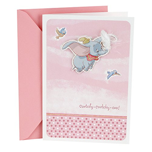 Hallmark Baby Shower Greeting Card (Dumbo with Feather) -