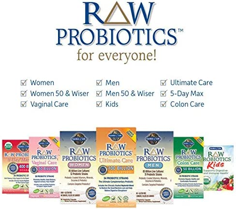 Garden of Life RAW Probiotics Women - Acidophilus Live Cultures - Probiotic-Created Vitamins, Minerals, Enzymes and Prebiotics - Gluten Free - 90 Vegetarian Capsules *Packaging May Vary 8