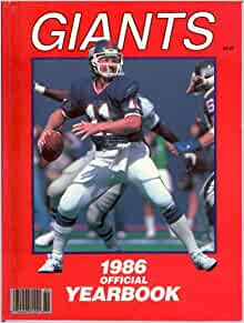 1986 New York Giants Official Yearbook NFL: Jim Turner: Amazon.com: Books
