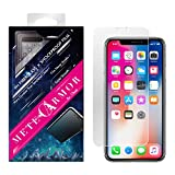 Unbreakable 9H Fiberglass Screen Protector for iPhone X/Xs or XR or Xs Max - Moxbii Metearmor Shockproof Film - Scratch Proof, Smooth Touch, High Definition, Super Thin (iPhone Xs Max)