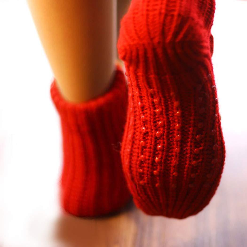 Coxeer calcetines de Navidad 3D animales hogar piso antideslizante calcetines para mujer Cute Elk