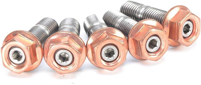 Turbo Stud Kit w//Egged Copper Nuts M10x1.5 Fit Garrett GT40 GT42 Turbo
