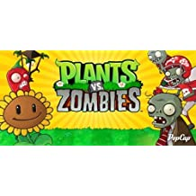 CAKEUSA Plants vs. Zombies Party Zombies Birthday 1/2 Size Frosting Sheet Cake Topper Edible Image