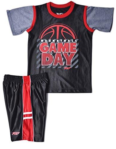 Boys-2-Piece-Short-Set-Graphic-T-Shirt-Basketball-Shorts-Sizes-12mo-4T