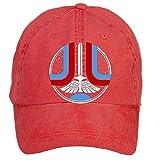 Qikdg Custom Adjustable The Last Starfighter Baseball Caps-Washed 100% Cotton Red