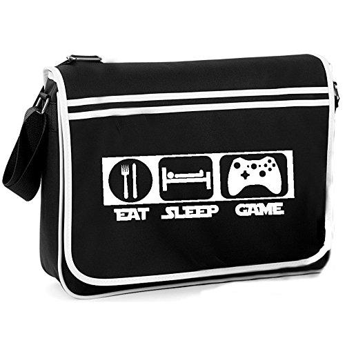 Eat Sleep Game - Retro Shoulder Bag