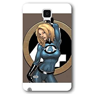 UniqueBox Customized Marvel Series Case for Samsung Galaxy Note 4, Marvel Comic Hero Invisible Woman Samsung Galaxy Note 4 Case, Only Fit for Samsung Galaxy Note 4 (White Frosted Case) WANGJING JINDA